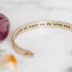 All we have to decide Inspirational Tolkien brass quote bracelet