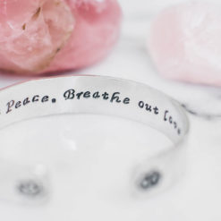 Breathe in peace breathe out love Bracelet