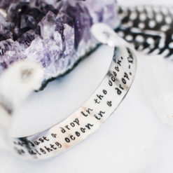 You are not just a drop in the ocean Sterling silver bracelet