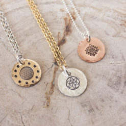 Sacred geometry necklace - Flower of life, Seed of life or Sri Yantra