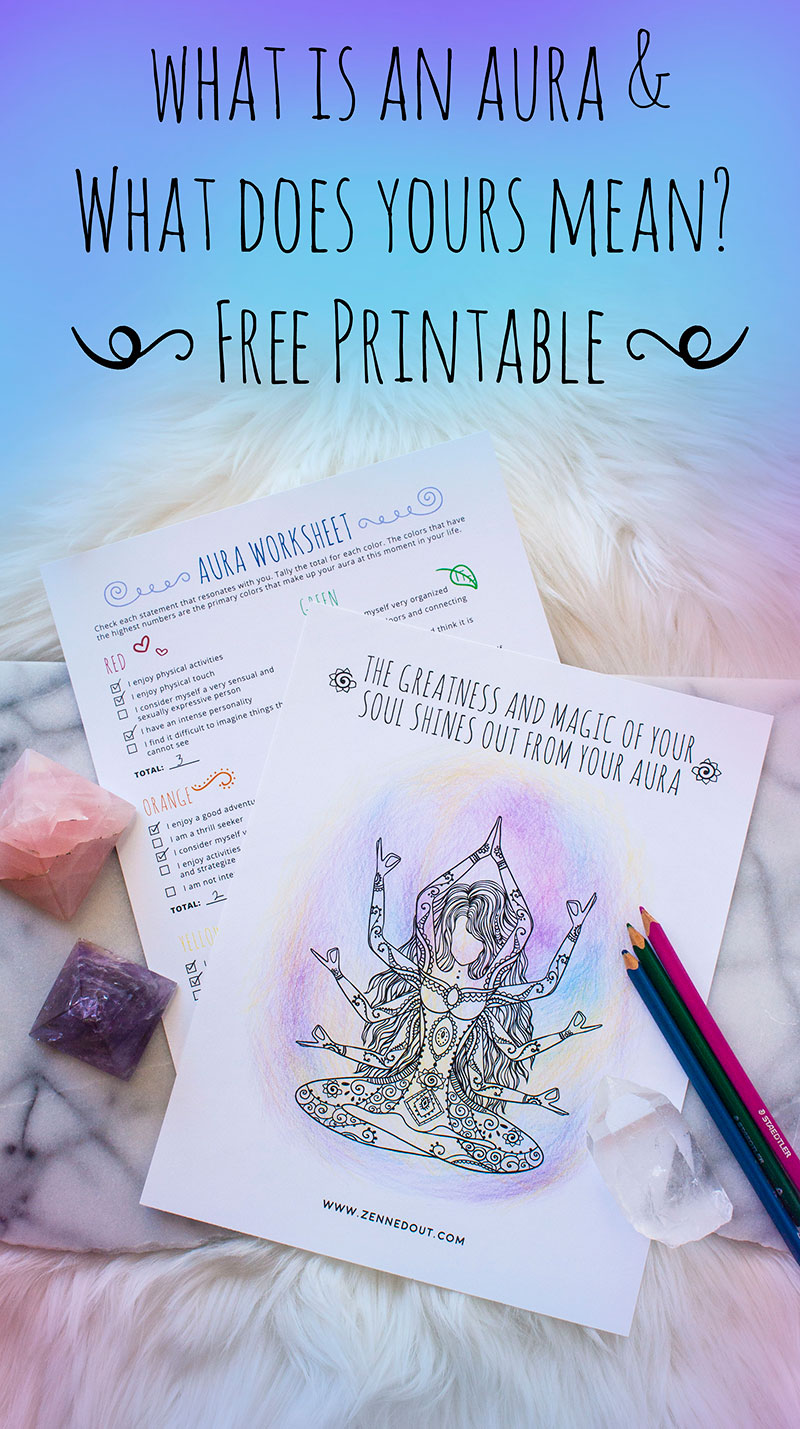 What Is An Aura What Does Yours Mean With Free Worksheet