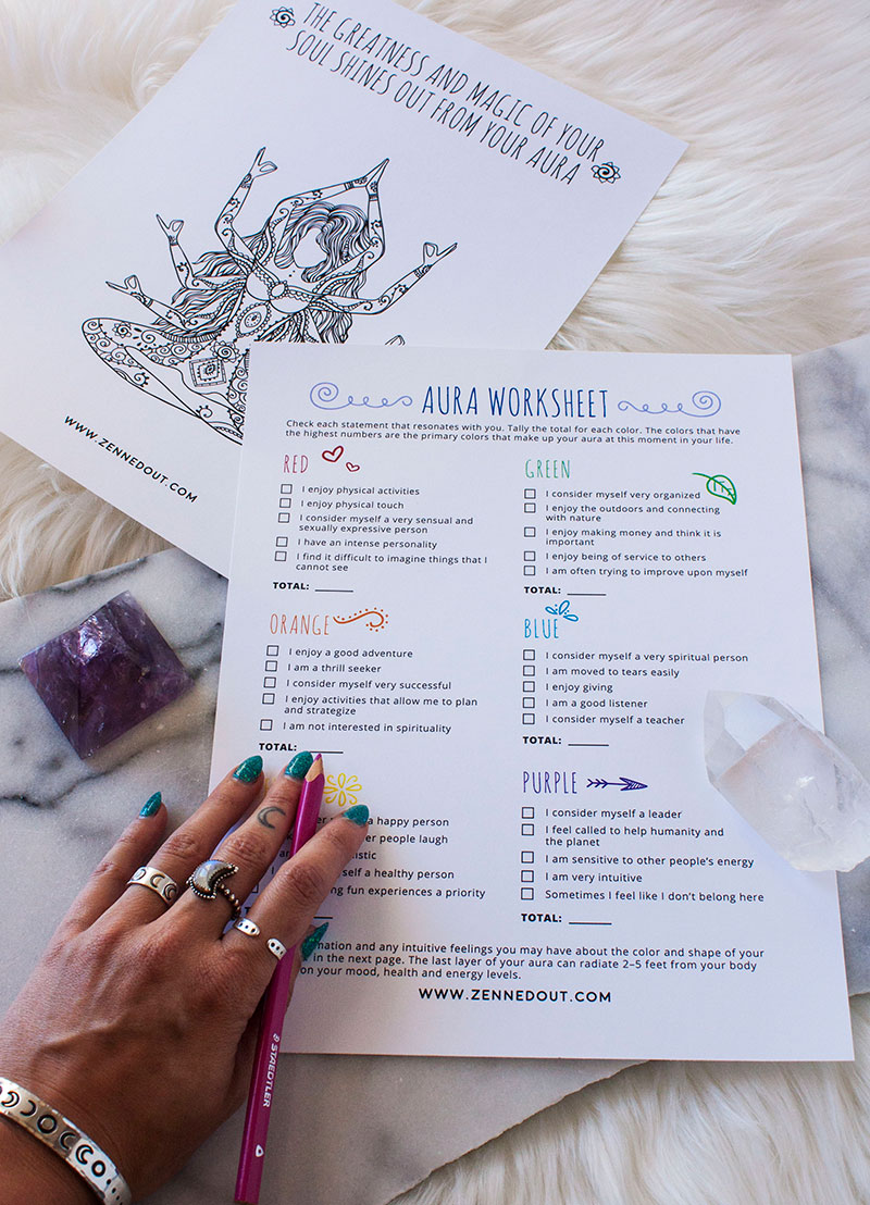 What is an Aura & What Does Yours Mean? // With Free Worksheet ...