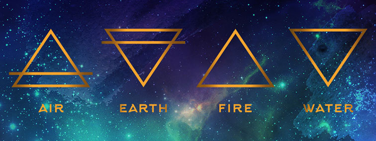 four elements triangles