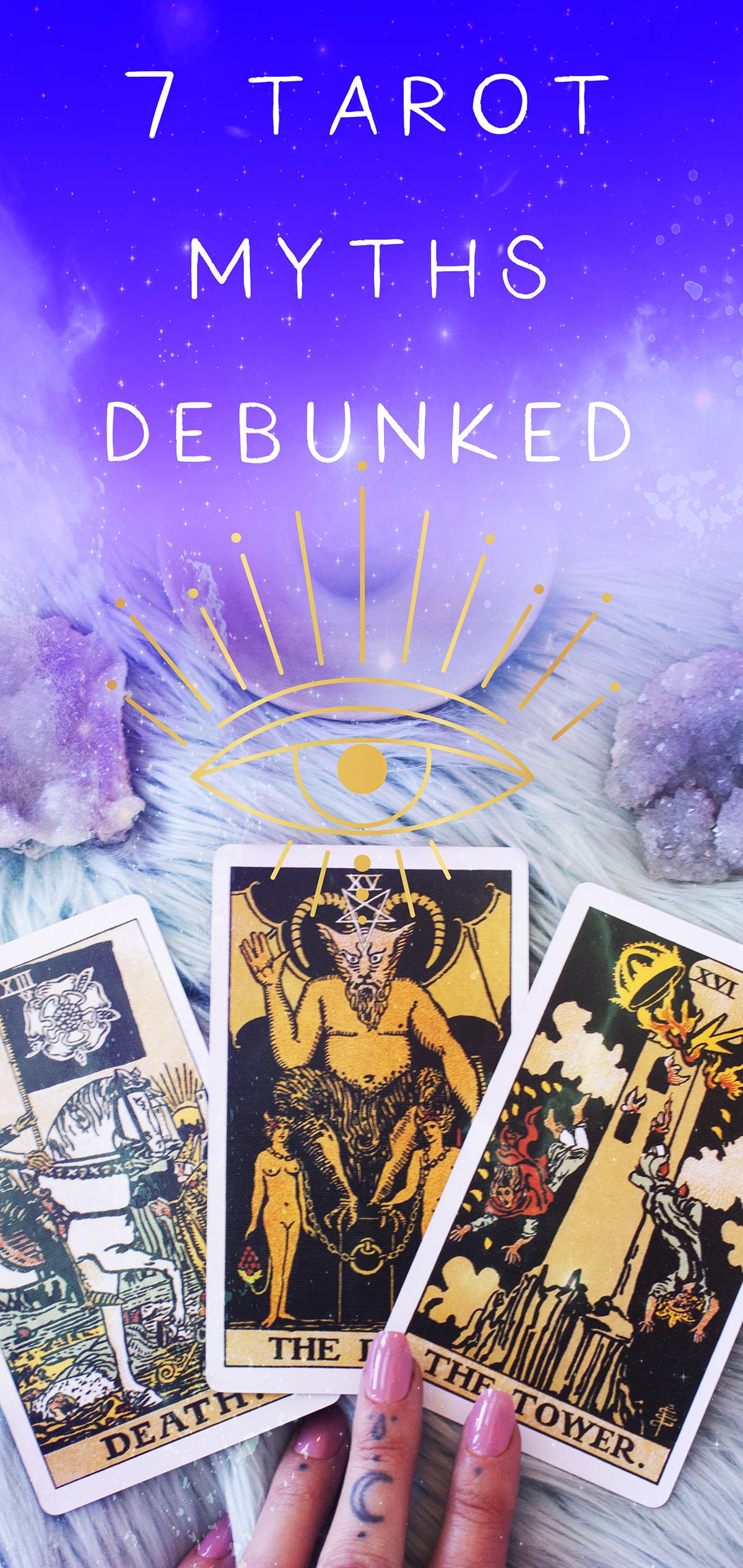 are tarot cards evil? 7 tarot card myths debunked