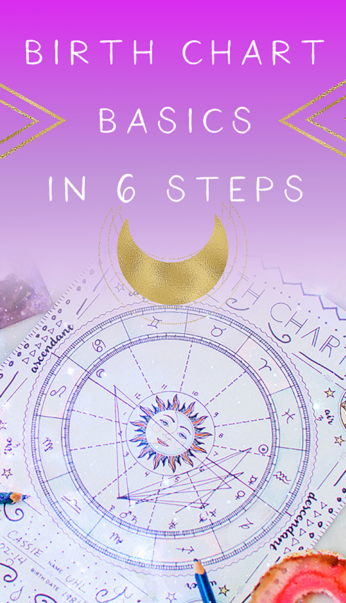 birth chart basics in 6 steps