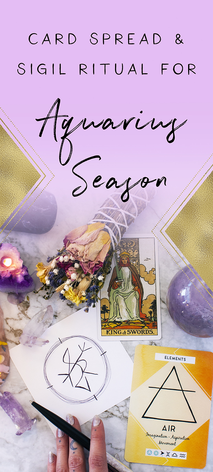 card spread and sigil ritual for aquarius season
