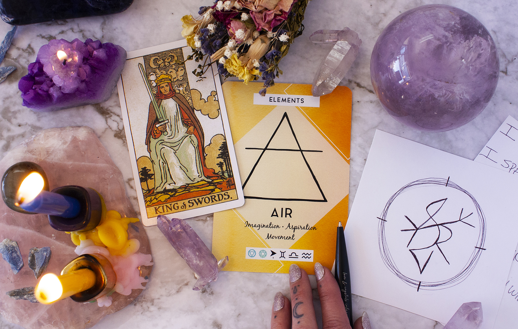 card spread for aquarius season and sigil ritual