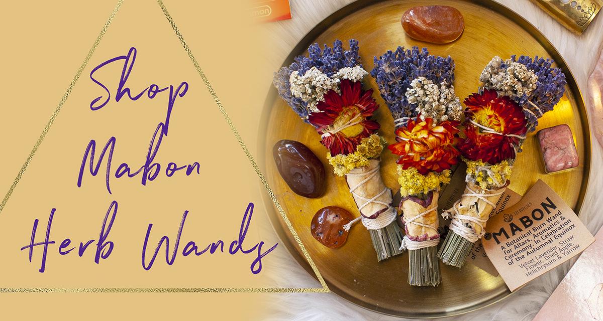 mabon herb wand lavender smoke wand