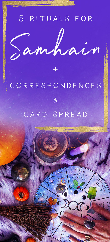 rituals for samhain corresondences for samhain ways to celebrate samhain samhain card spread