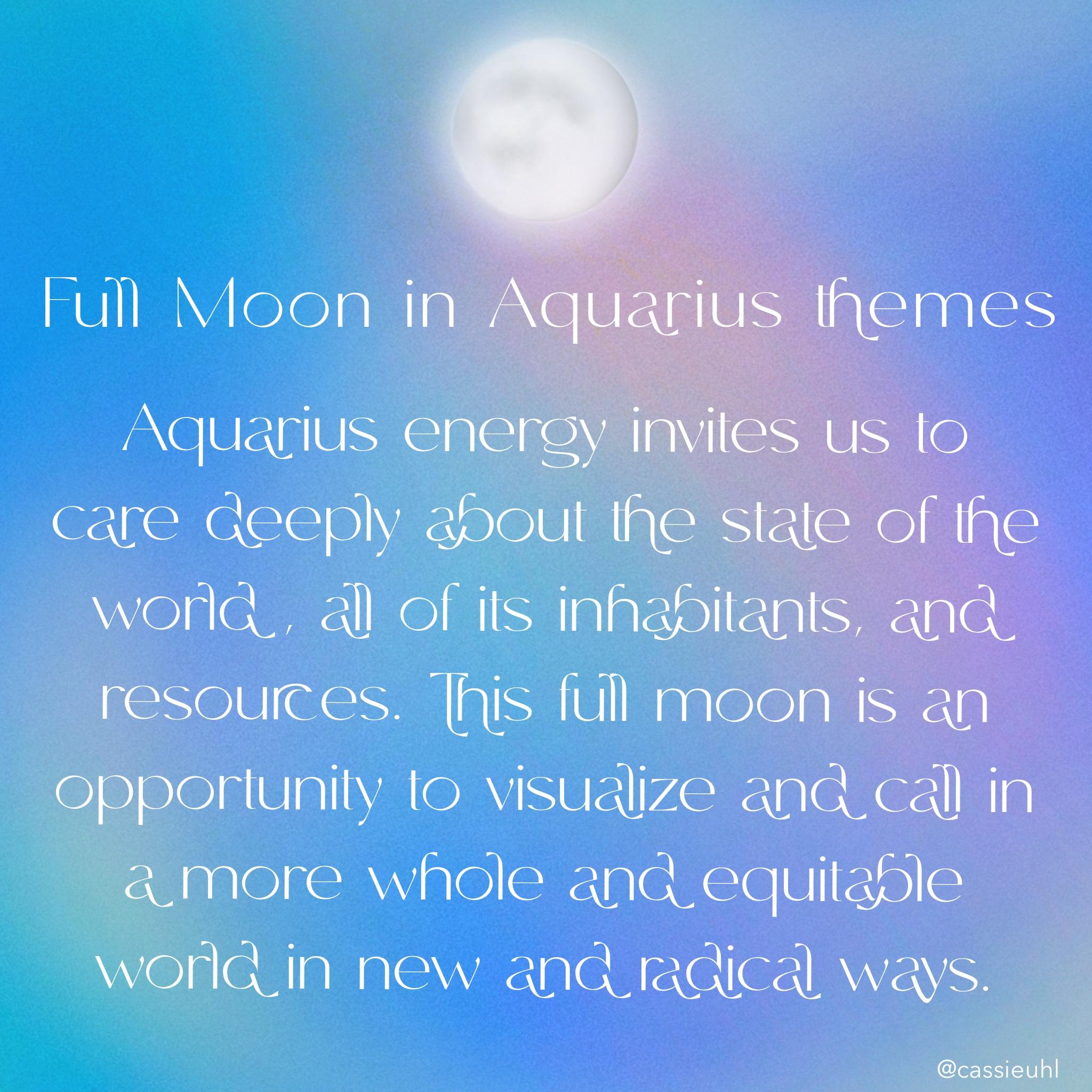 rituals for the full moon aquarius full moon ritual