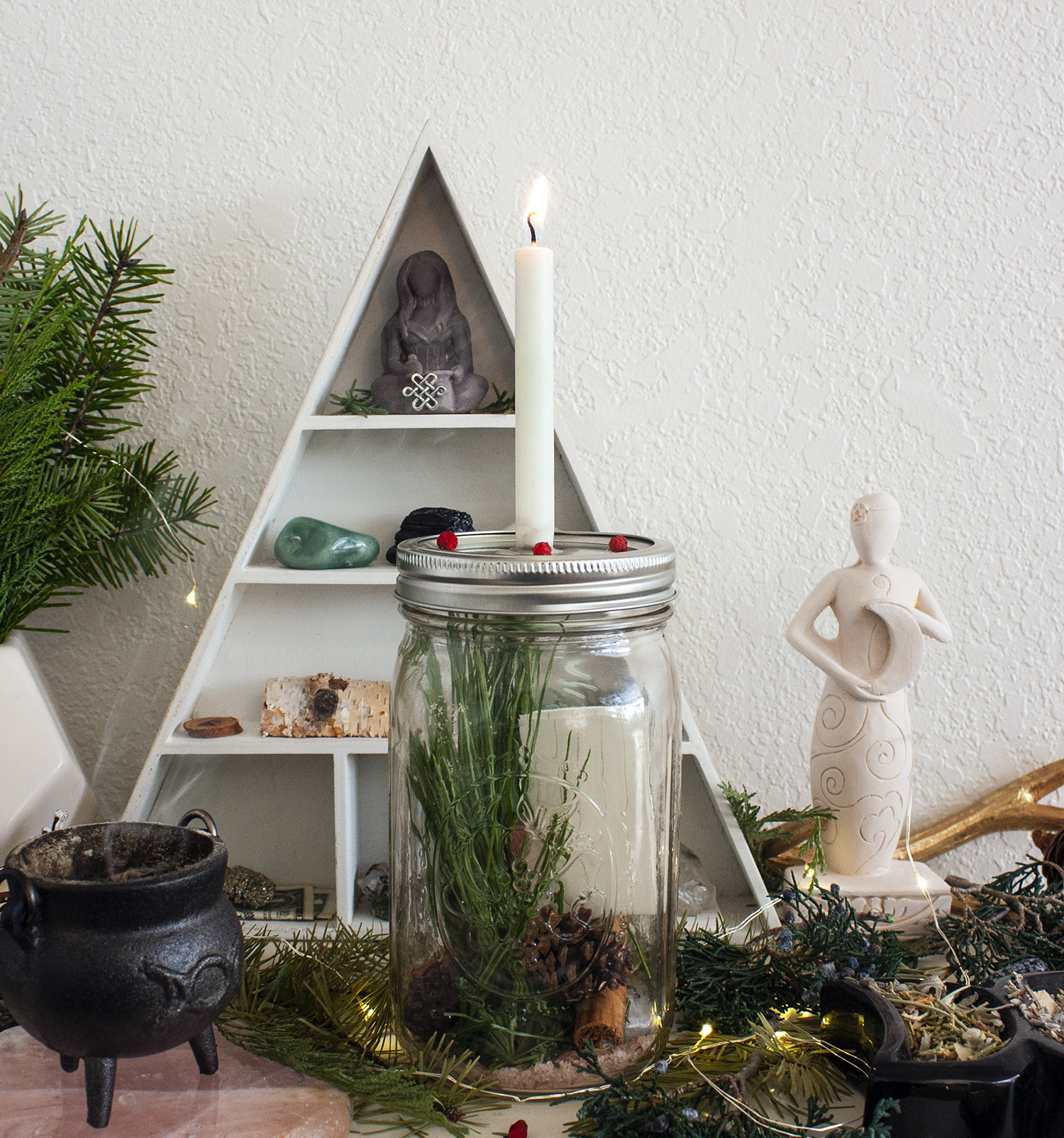winter solstice and yule ritual spell for rebirth